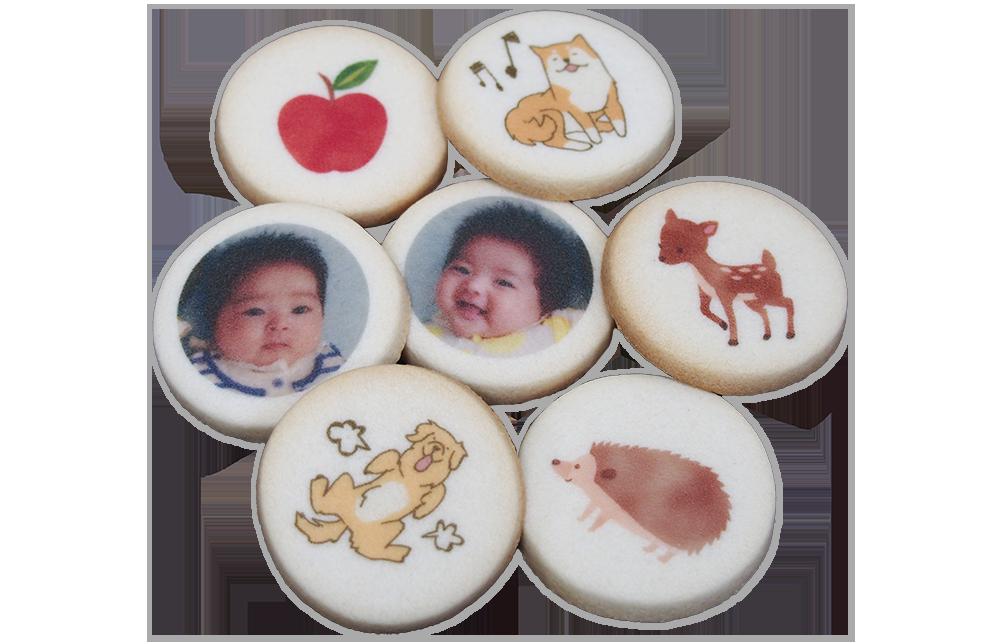 可食プリント加工クッキー